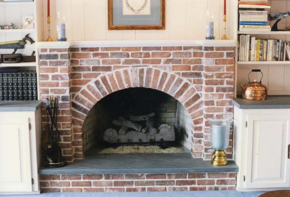 Interesting Used Brick Arched Opening With Piers U Bluestone Hearth