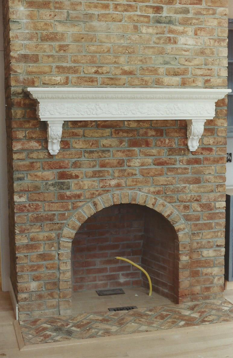 Brick Fireplaces Gray Masonry Stone Brick Concrete
