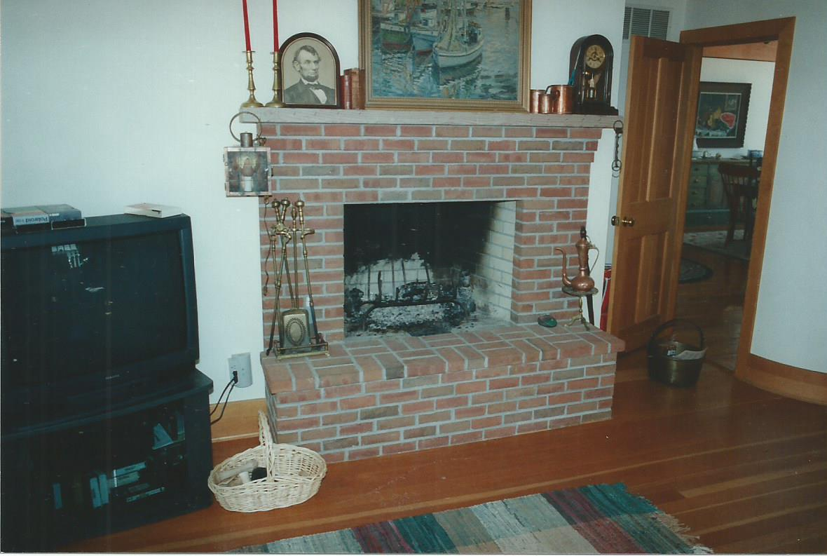 Brick Fireplaces - Gray Masonry - Stone Brick Concrete