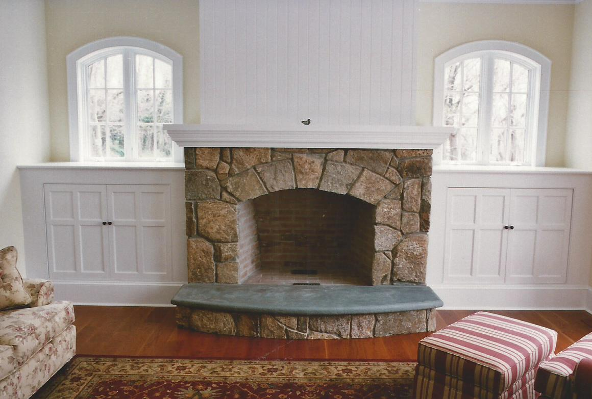 Stone Fireplaces - Gray Masonry